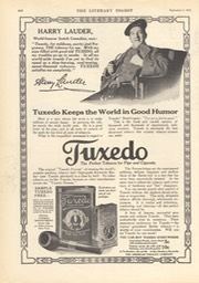Advertisemant For Tuxedo Tobacco Litery Digest Sep 5 1914