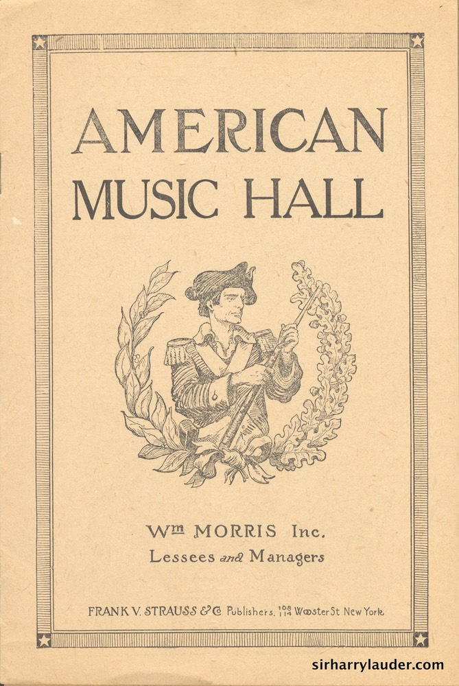 American Music Hall Boston Programme Booklet Nov 23 1908 -1