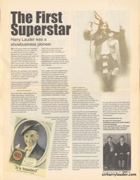 Article Instant Newspaper The First Superstar Nov Dec 1999