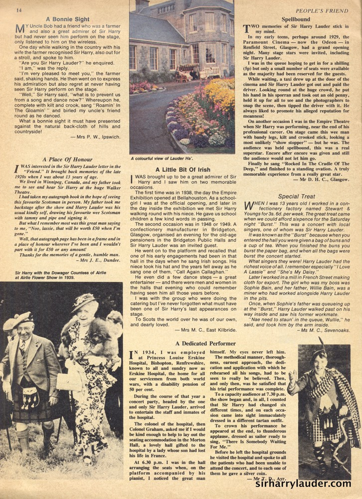 Article Magazine The Peoples Friend Jun 25 1983 -3