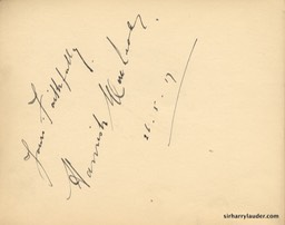 Autograph Album Page Three Cheers 1917 Hamish MacLeod