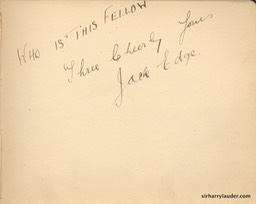 Autograph Album Page Three Cheers 1917 Jack Edge