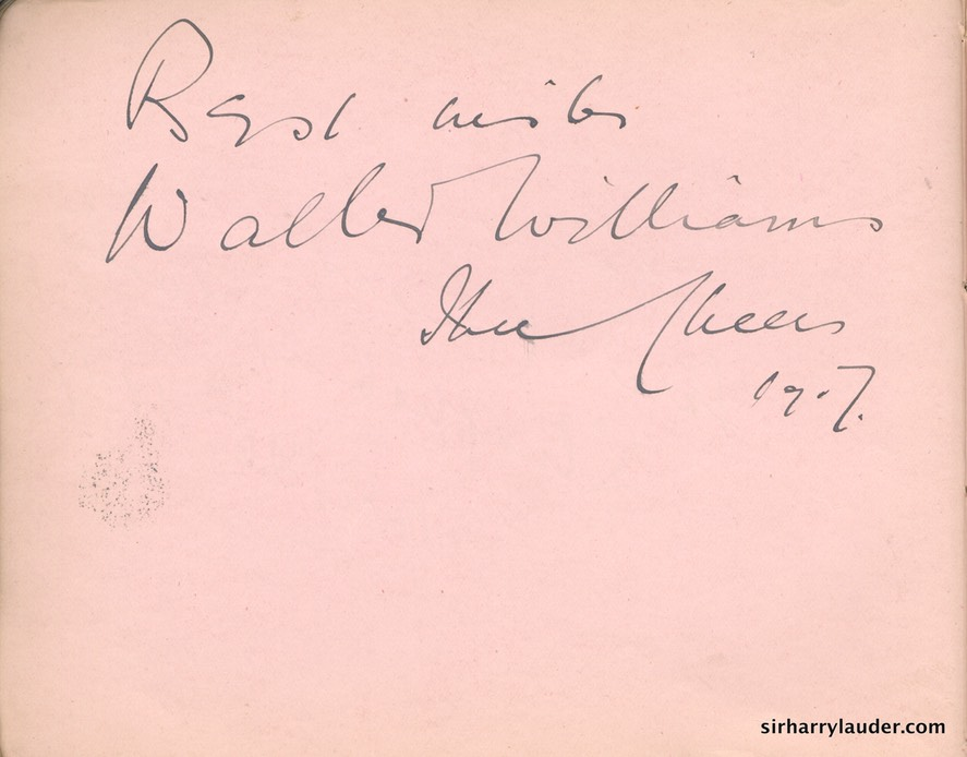 Autograph Album Page Three Cheers 1917 Walter Williams