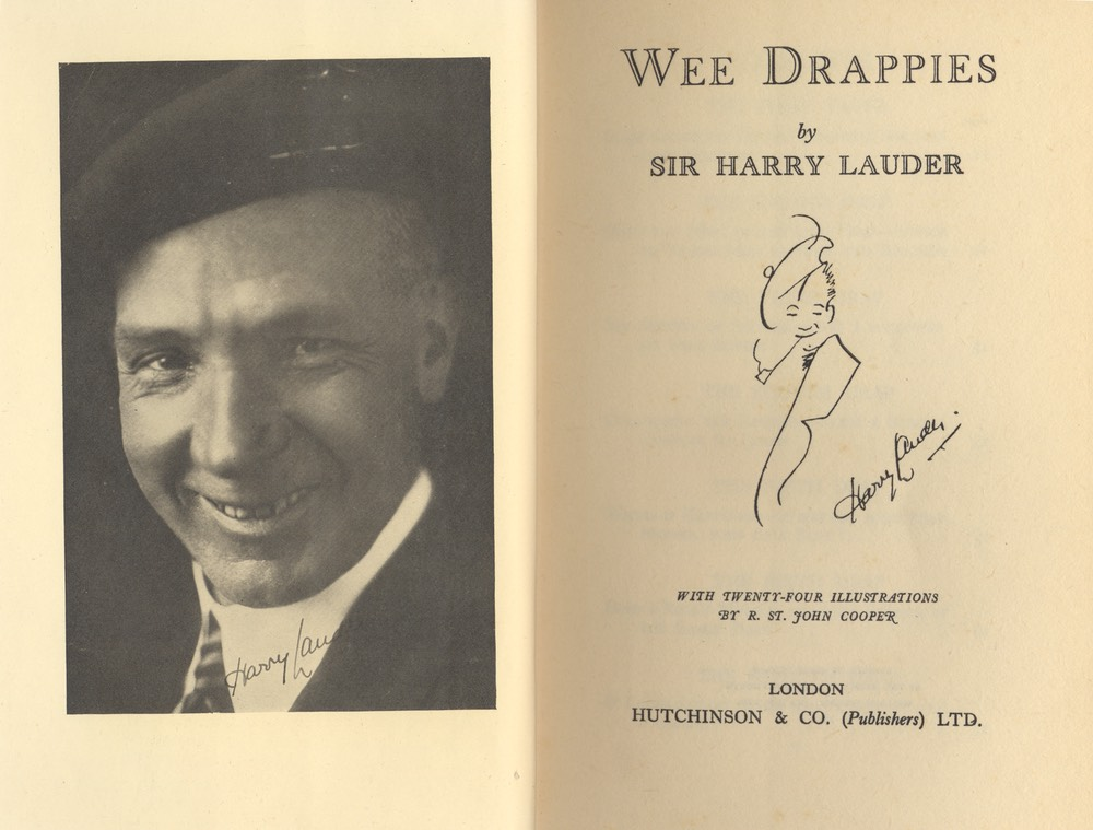 Book Wee Drappies By Sir harry Lauder Hutchinson & Co London 1931**  Frontispiece
