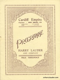 Cardiff Empire Programme Booklet Nov 17 19?? -1