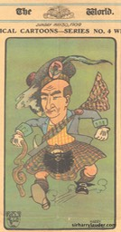 Caricature From The World -NY Unknown Artist May 30 1909