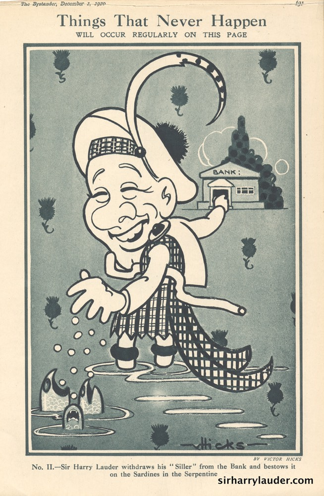 Caricature The Bystander Magazine Dated Dec 1 1920