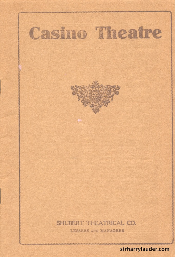 Casino Theatre New York Programme Booklet Jan 5 1914 -1