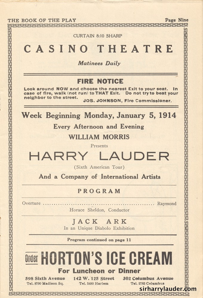 Casino Theatre New York Programme Booklet Jan 5 1914 -2