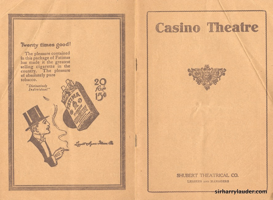 Casino Theatre New York Program Booklet Dated Jan 15 1914 -1