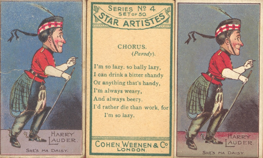 Cigarette Card Cohen Weenen & Co Undated***