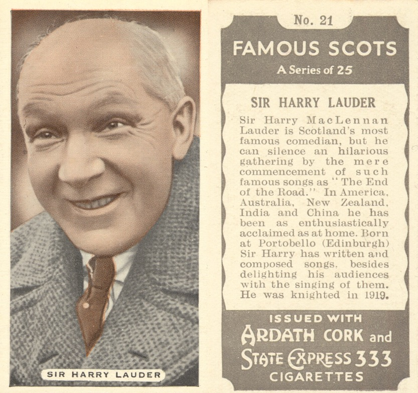 Cigarette Card State Express 333 Famous Scots