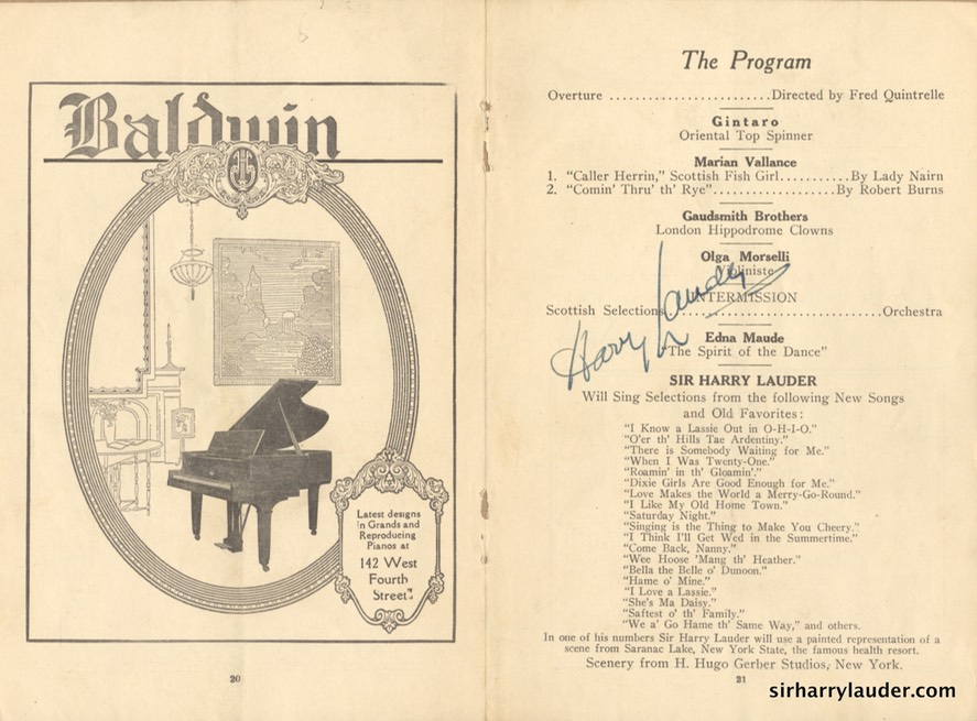 Cincinnati Program Signed Excerpt Dec 20 1923