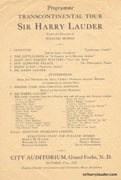 City Auditorium Grand Forks ND Programme Single Sheet Oct 27 1932