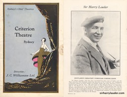 Criterion Theatre Sydney Programme Advertisement Jun 27 1925