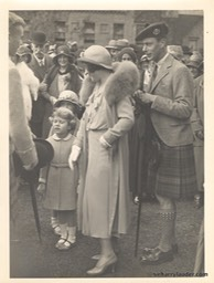 Duke & Dutchess of York & Princess Elizabeth Glamis Castle Scotland Undated