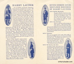Edison Company Pamphlet For New Lauder Records Feb 1908**** -2