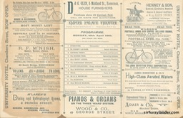 Empire Palace Theatre Edinburgh Programme Dated Apr 29 1895 Reverse