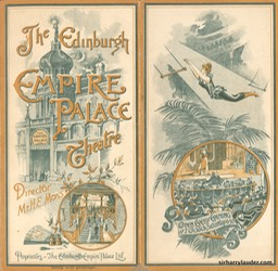 Empire Palace Theatre Edinburgh Programme Dated Apr 29 1895