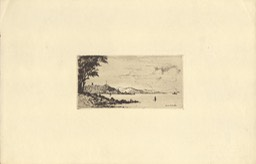 Etching By John Lauder Probably View From Dunoon Undated