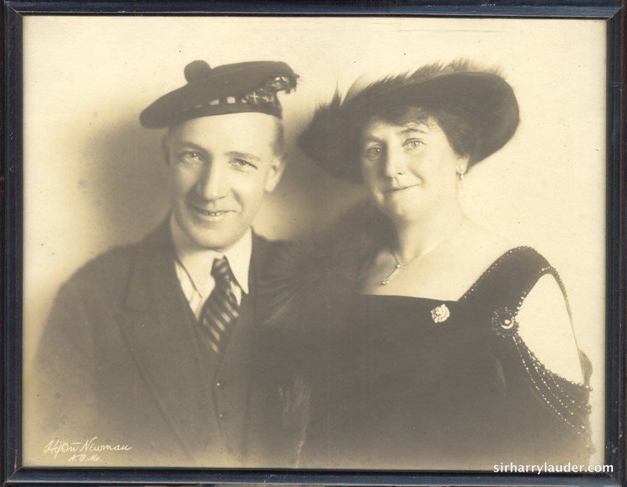 Framed Photo Jimmy Logan Collection Lauder Property Sir Harry & Lady Lauder Undated