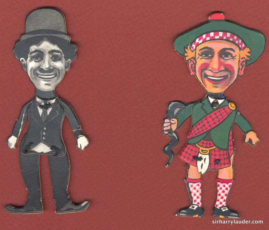 Game Matthews Palace Of Mirth & Merriment Chaplin & Lauder Figures
