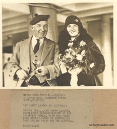 Greta and Sir Harry in Australia 1929 *