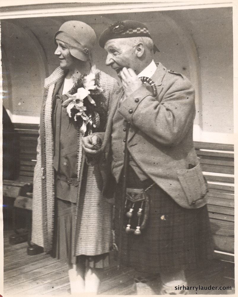 Greta and Sir Harry on Mauretania 1930
