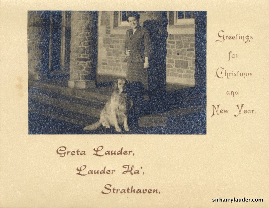 Greta Lauder Christmas & New Year Greetings Undated