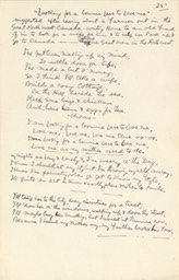 Handwritten Verse Looking For A Bonnie Lass To Love Me No 25 Signed Undated
