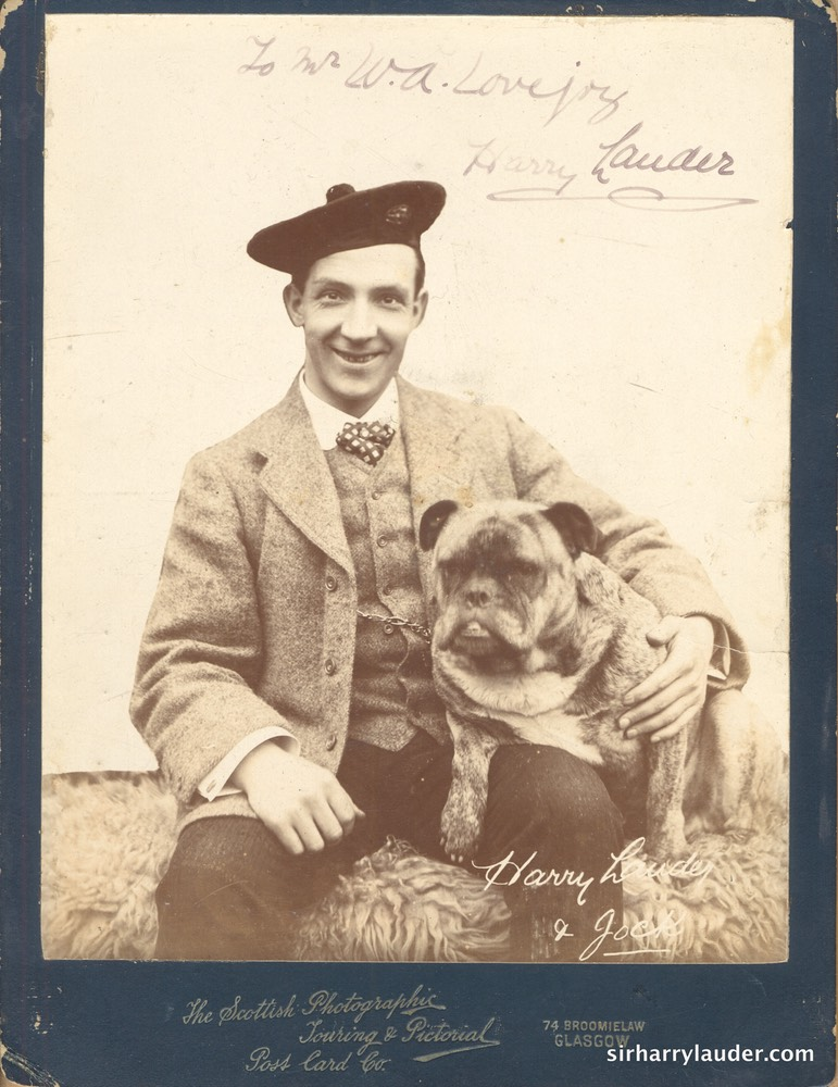 Harry Lauder & Jock Inscribed Cabinet Photo Undated