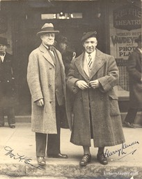 Harry Lauder & Wm H. Evarte? Signed Photo Undated