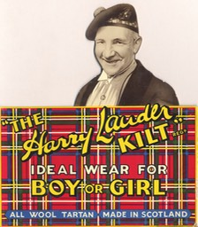 Harry Lauder Kilt Advertisement Standing Cutout Card Undated