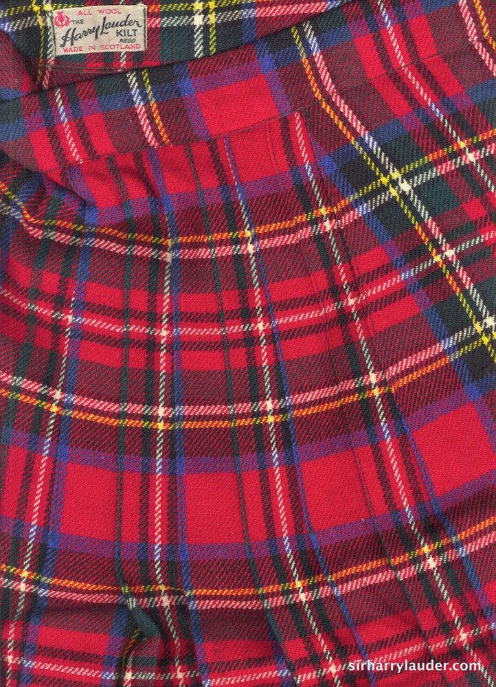 Harry Lauder Kilt All Wool Kilt With Label Undated