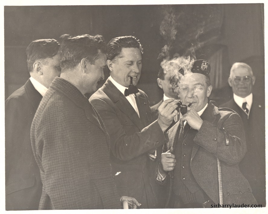 Harry Lauder Thomas Ince Fred Niblo Undated**