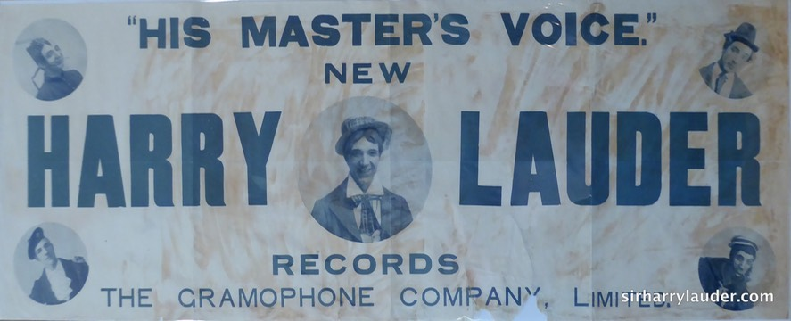 HMV Poster New Harry Lauder Records 1907