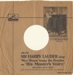 HMV Record Sleeve With Photo Of Sir Harry