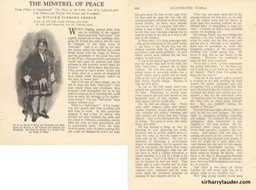 Illustrated World Might Minstrel Of Peace Article By Wm Flemming French Feb 1923 -1