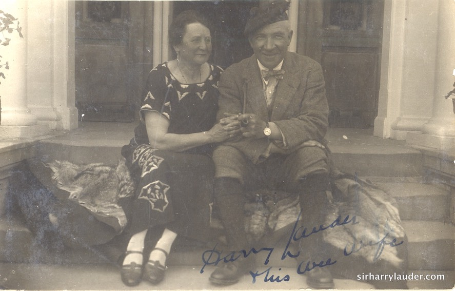 Inscribed Harry Lauder and his Wee Wife
