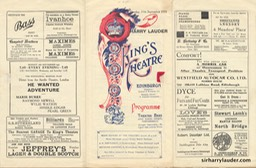 Kings Theatre Edinburgh Tri Fold Programme Sep 11 1933