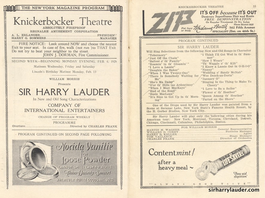 Knickerbocker Theatre New York Program Booklet Dated Feb 6 1928 -2