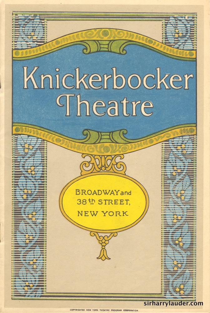 Knickerbocker Theatre New York Program Booklet Dated Feb 6 1928 -1