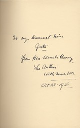 Leather Bound Presentation Copy Of Autobiography Roamin In The Gloamin Inscribed To Neice Greta Lauder Oct 28 1928 Inscription