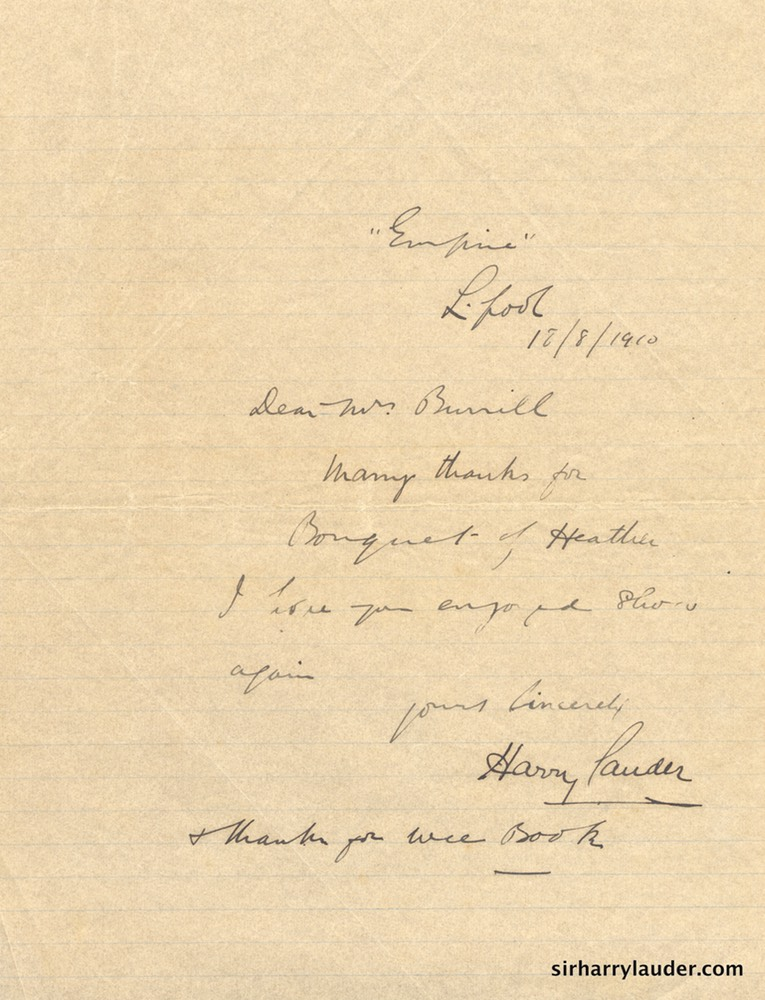Letter Handwritten To Mrs Burrill From Empire Liverpool 18 8 1910-001