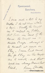 Letter Handwritten To Unknown About His Mother Ravenswood Banchory Stationary Kincardineshire Undated