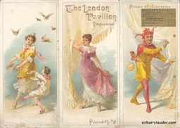 London Pavilion Programme Tri-Fold Feb 18 1901