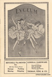 Lyceum Ithaca NY Program Booklet March 7 1924 -1