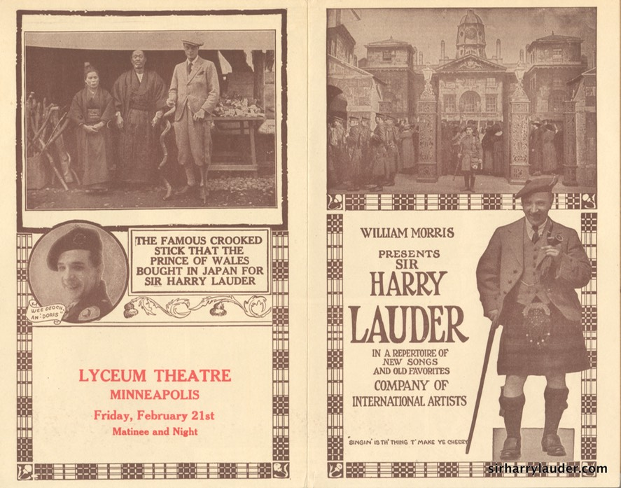 Lyceum Theatre Minneapolis Programme Bi-Fold Feb 21 1923?