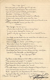 Lyrics Handwritten By ??? For Ma Wife Jean Signed By Sir harry & Gerald Grafton