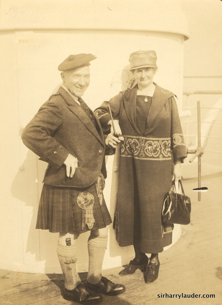Mauretania with Lady Lauder Sept 23, 1922